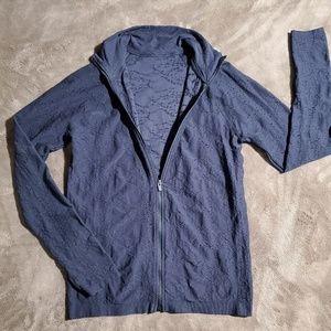 Seamless zip up jacket